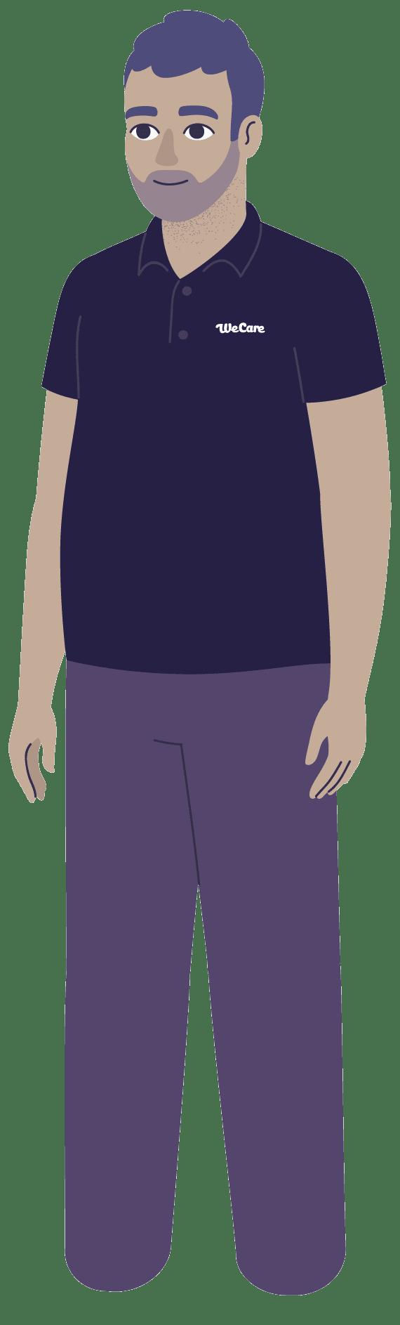 We Care staff member illustration
